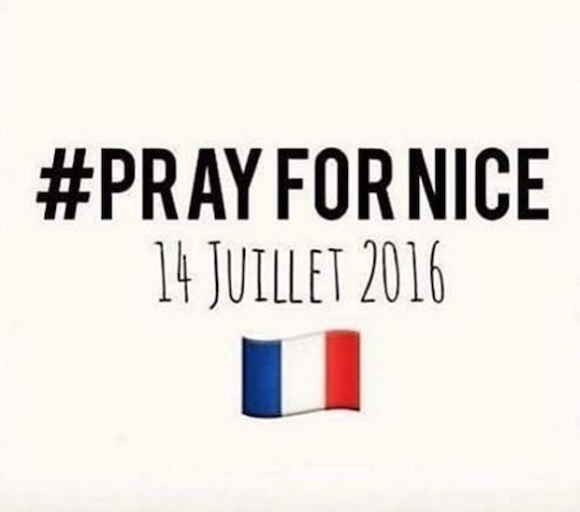 Pray for Nice a Tribute to the Victims of Terrorist Attack